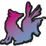 UV Fox sticker black outline