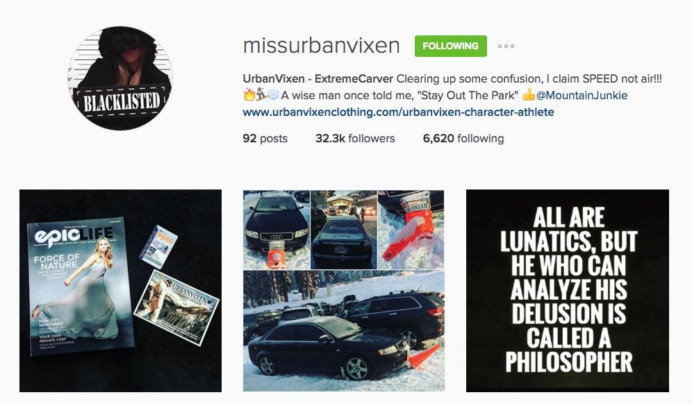 UrbanVixen Instagram
